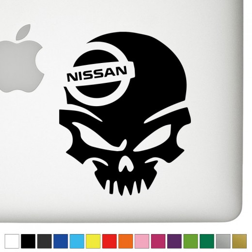 Nissan badass skull decal