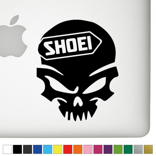 Shoei Badass Skull Decal