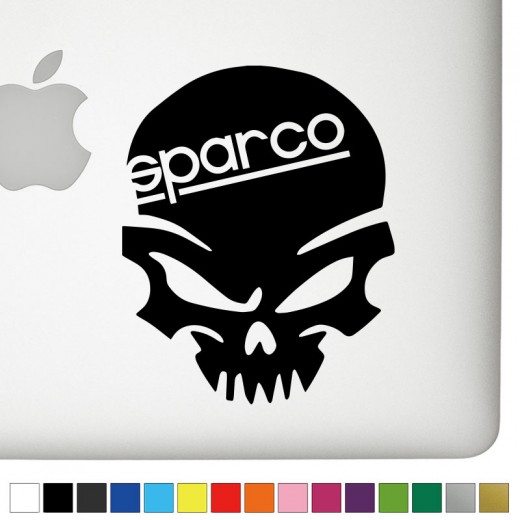 Sparco badass skull decal