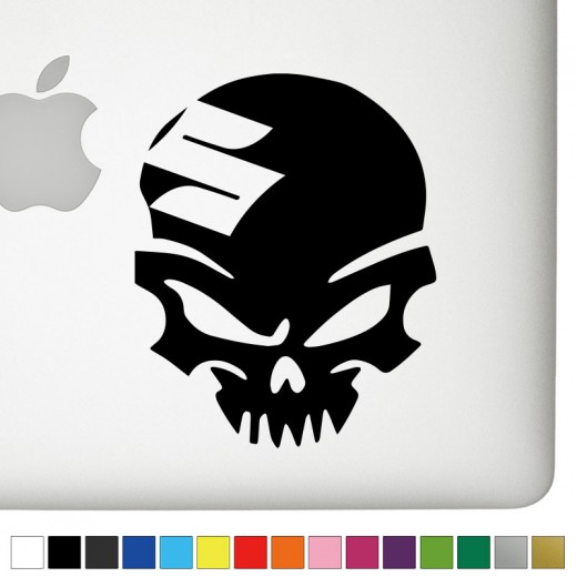 Suzuki Badass Skull Decal