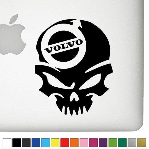 Volvo Badass Skull Decal