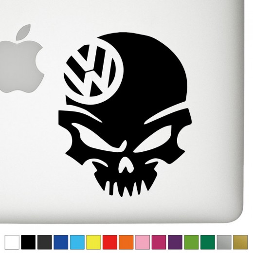 VW Badass Skull Decal