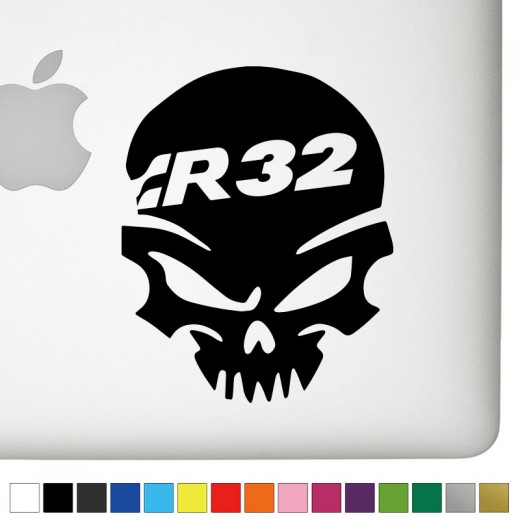 VW R32 Badass Skull Decal