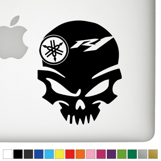 Yamaha r1 badass skull decal