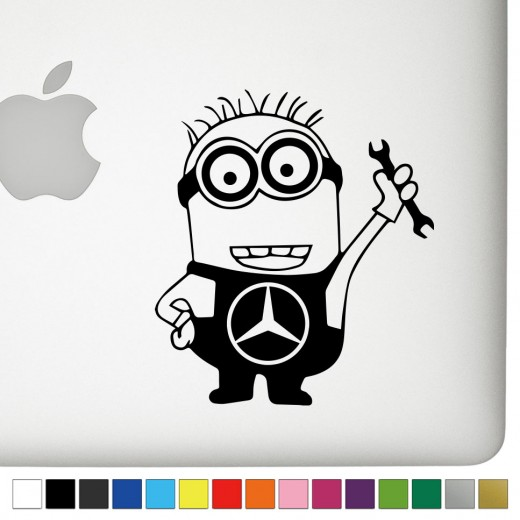 Mercedes Jerry the Minion Decal