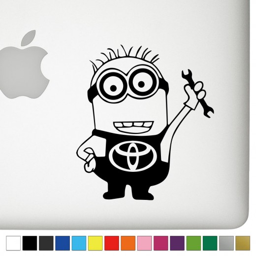 Toyota Jerry the Minion Decal