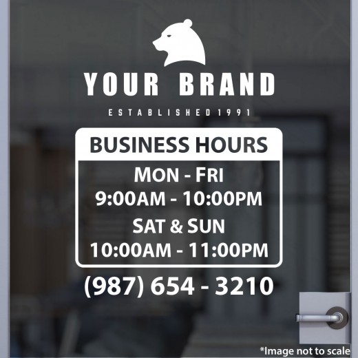 Open Hours with Logo Style 10