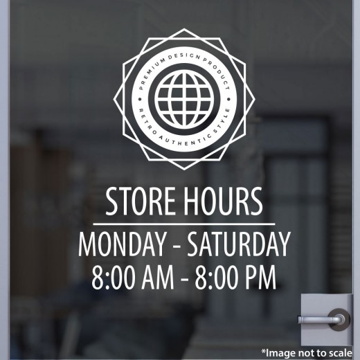 Open Hours with Logo Style 12