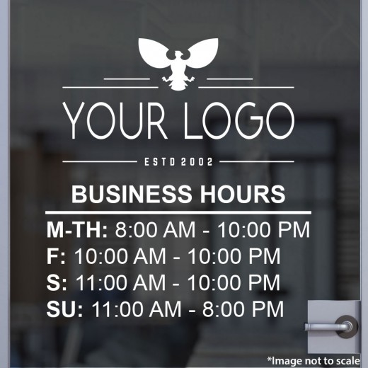 Open Hours with Logo Style 13