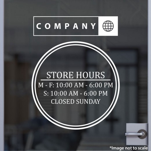 Open Hours with Logo Style 14