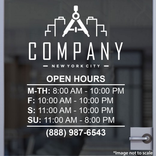 Open Hours with Logo Style 15