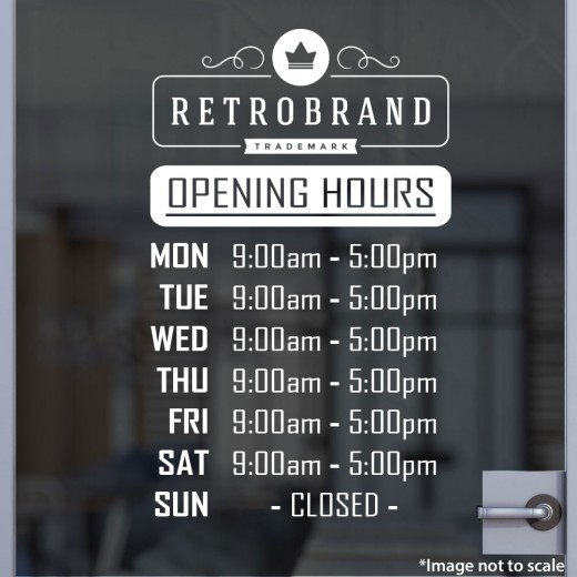 Open Hours with Logo Style 18