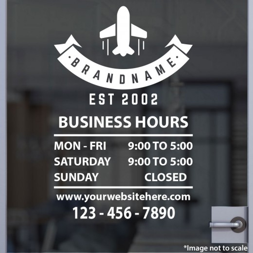 Open Hours with Logo Style 19