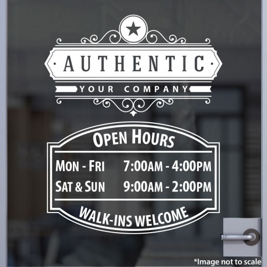 Open Hours with Logo Style 01