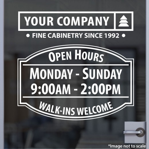 Open Hours with Logo Style 01A