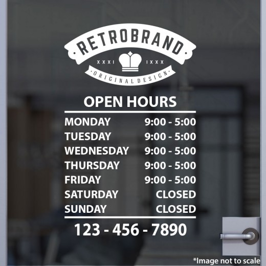 Open Hours with Logo Style 20