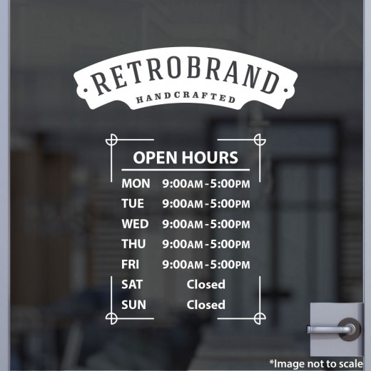 Open Hours with Logo Style 22