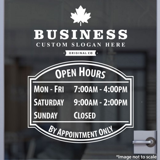 Open Hours with Logo Style 02