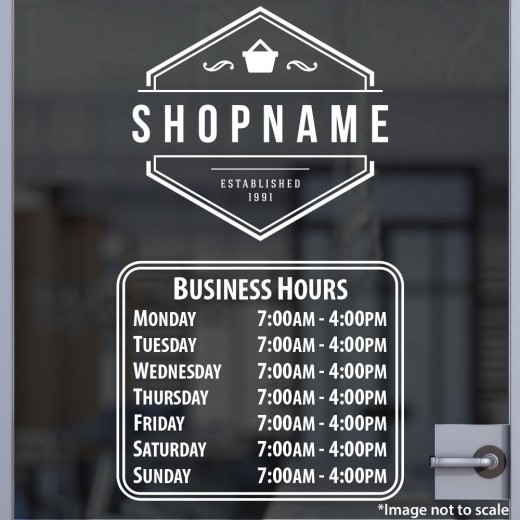 Open Hours with Logo Style 05