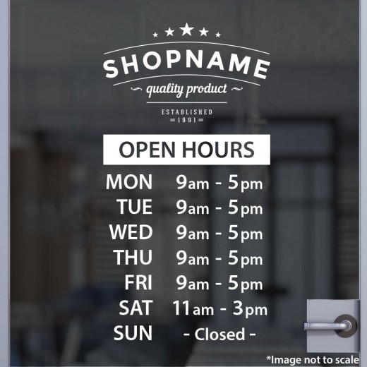Open Hours with Logo Style 07