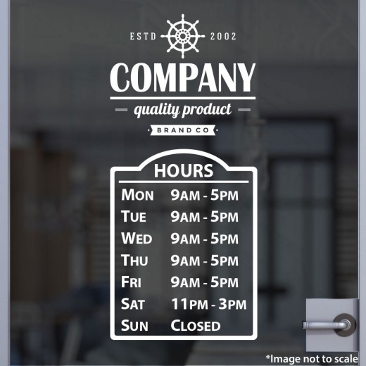 Open Hours with Logo Style 08