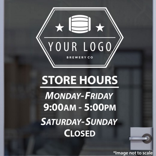 Open Hours with Logo Style 09