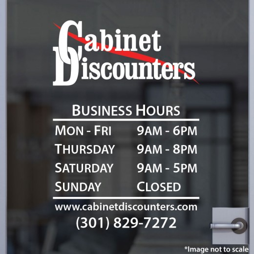 Two-Color Open Hours with Logo