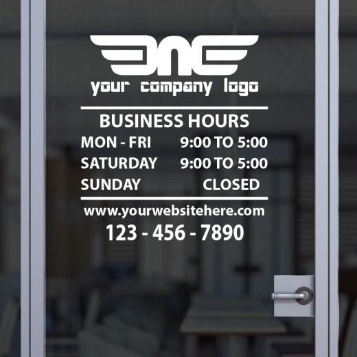Custom Open Hours For Business Office Shop Salon