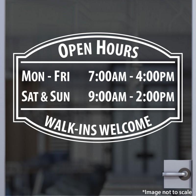 bc99c1f3c17d4 Custom Open Hours for Business, Office, Shop, Salon, Studio ...