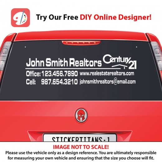 Century 21 Style 01 - Rear Glass Decal