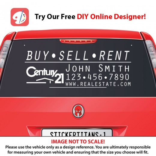 Century 21 Style 02 - Rear Glass Decal