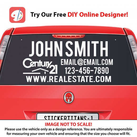 Century 21 Style 03 - Rear Glass Decal