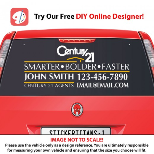 Century 21 Style 05 - Rear Glass Decal