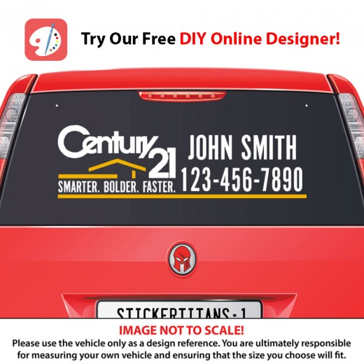 Century 21 Style 06 - Rear Glass Decal