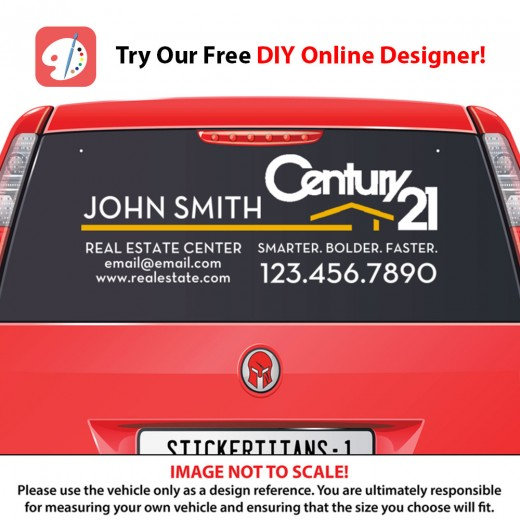Century 21 Style 07 - Rear Glass Decal