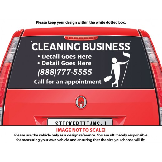 Rear Glass Decal - Cleaning Services 7