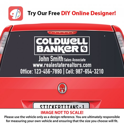 Coldwell Banker 02 - Rear Glass Decal