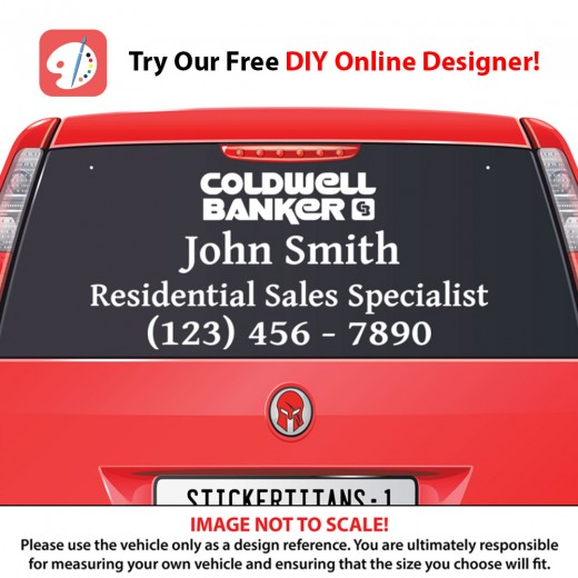 Coldwell Banker 03 - Rear Glass Decal