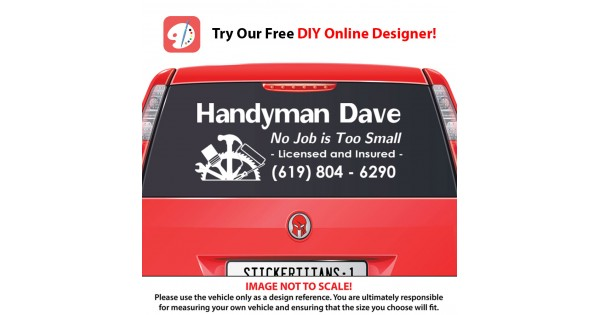 Rear Glass Decal - Handyman Business 1