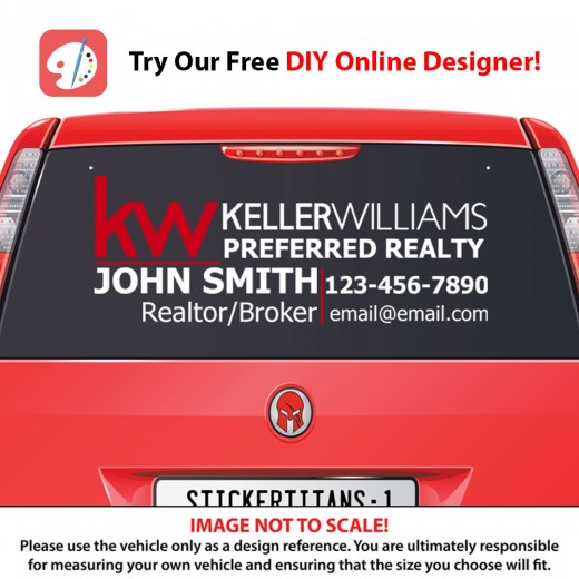 Keller Williams 01 - Rear Glass Decal
