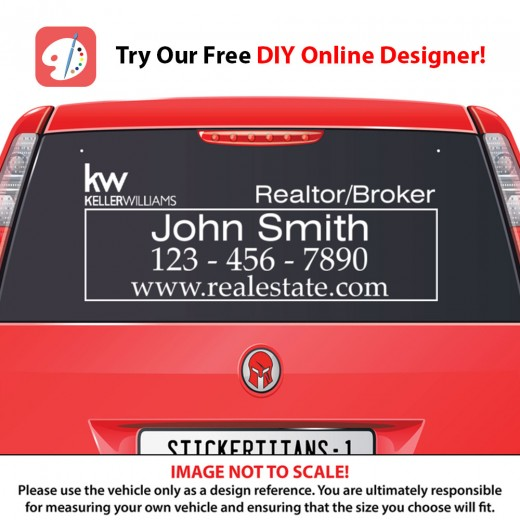 Keller Williams 02 - Rear Glass Decal