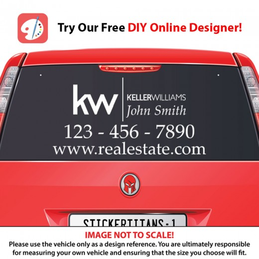 Keller Williams 03 - Rear Glass Decal