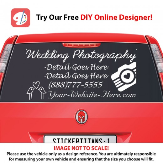 Rear Glass  Decal - Photography Business 3