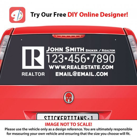 Realtor 02 - Rear Glass Decal