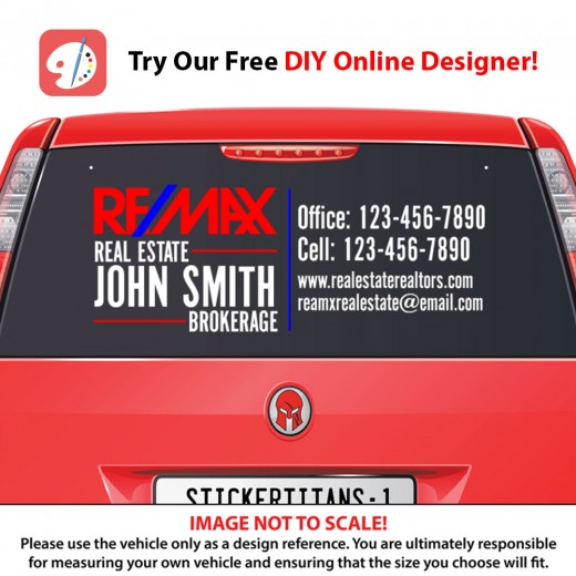Remax 01 - Rear Glass Decal