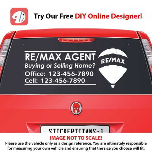 Remax 05 - Rear Glass Decal