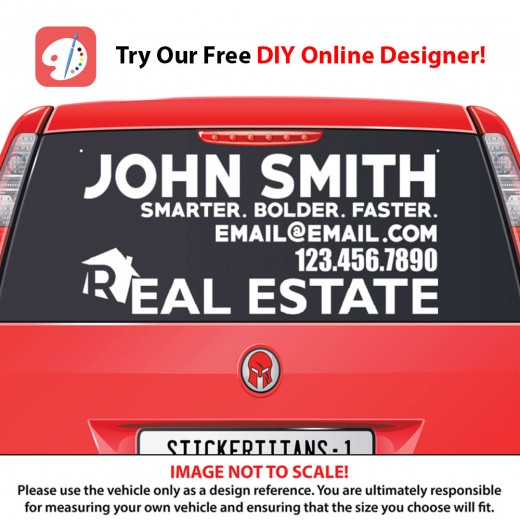 Real Estate Business 10 - Rear Glass Decal