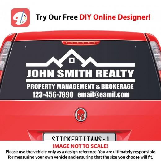 Real Estate Business 08 - Rear Glass Decal