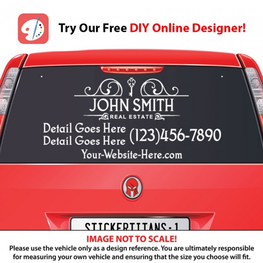 Real Estate Business 09 - Rear Glass Decal