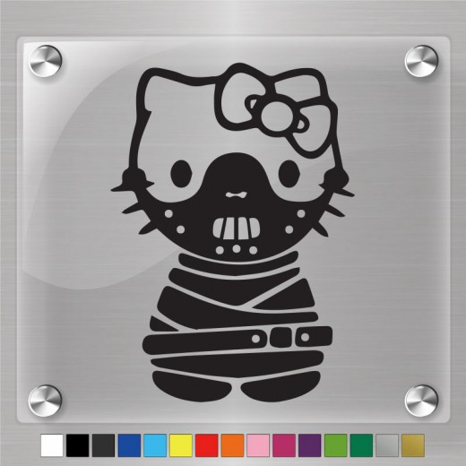 Hello Kitty Hannibal Lecter Decal